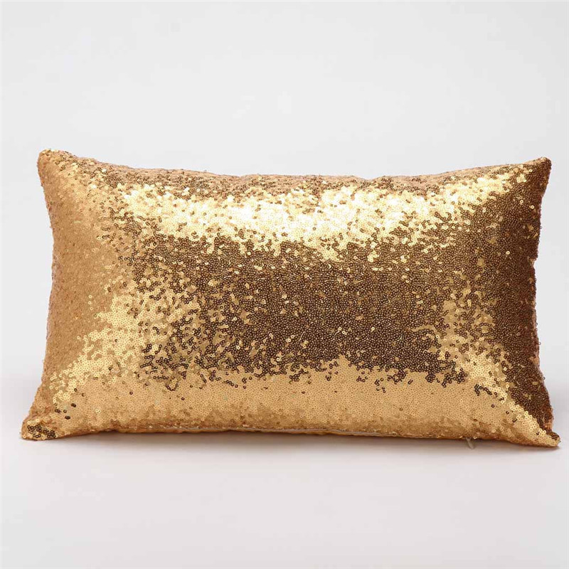 Fashion Bling glitter <font><b>pillow</b></font> cover cushion <font><b>case</b></font> textile <font><b>30*50</b></font> Rectangle pillowslip Sequins paillette covering drop shipping image