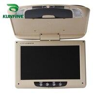 KUNFINE 9 Inch Car Roof Monitor LCD Flip Down Screen Overhead Multimedia Video Ceiling Roof mount Display