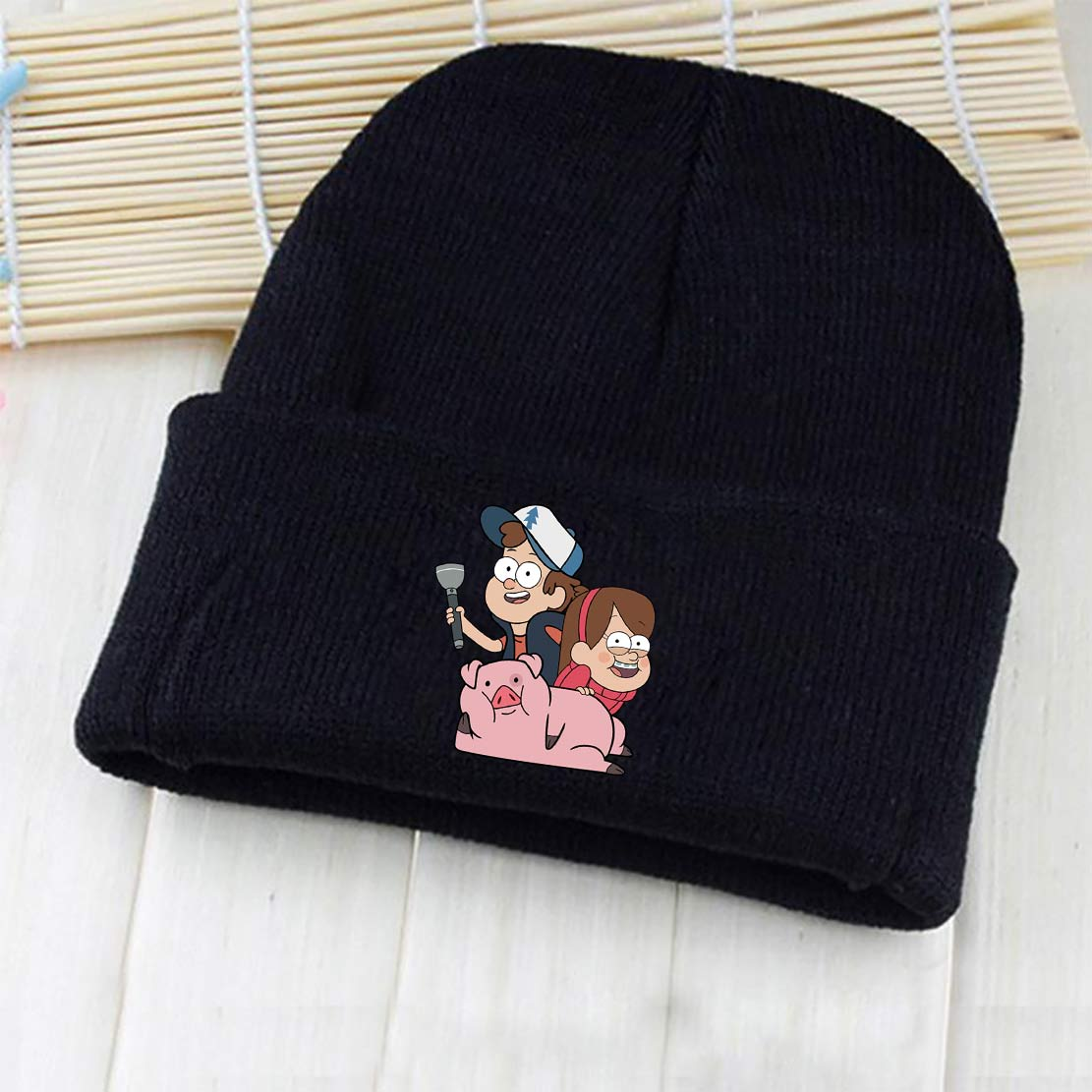 Wellcomics Anime Gravity Falls Dipper Mabel Pines Waddles Bill Cipher Symbol Skullies Beanie Knitted Hat Cap Cosplay Costume New