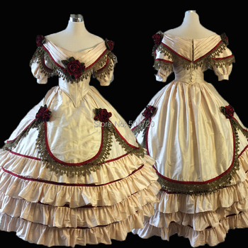 ¡A medida! 18 Siglo Duquesa francesa Retro renacimiento medieval teatro recreación guerra Civil victoriana vestido HL-493