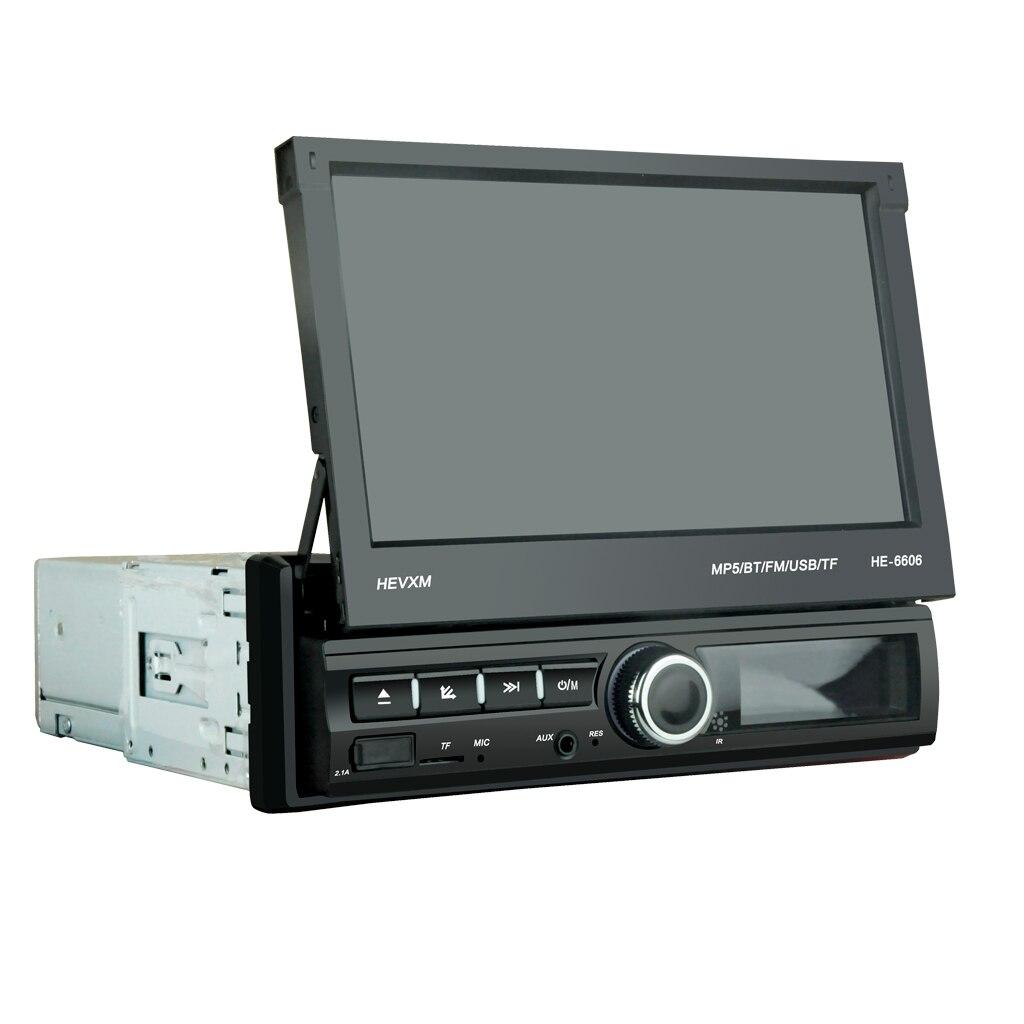 kamera Nicht Enthalten 7 Inch Auto Stereo Radio Player Versenkbare Presse Bildschirm Bluetooth Mp5 Player Unterstützung Rückansicht Kamera üBereinstimmung In Farbe
