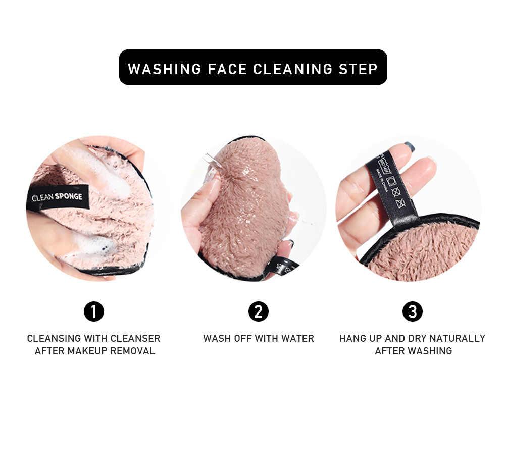 MAANGE 1Pcs Soft Make Ontharing Spons Flutter Gezicht Wassen Katoen Klapperen Herbruikbare Spons Gezicht Reiniging Spons Cleaner Gereedschap
