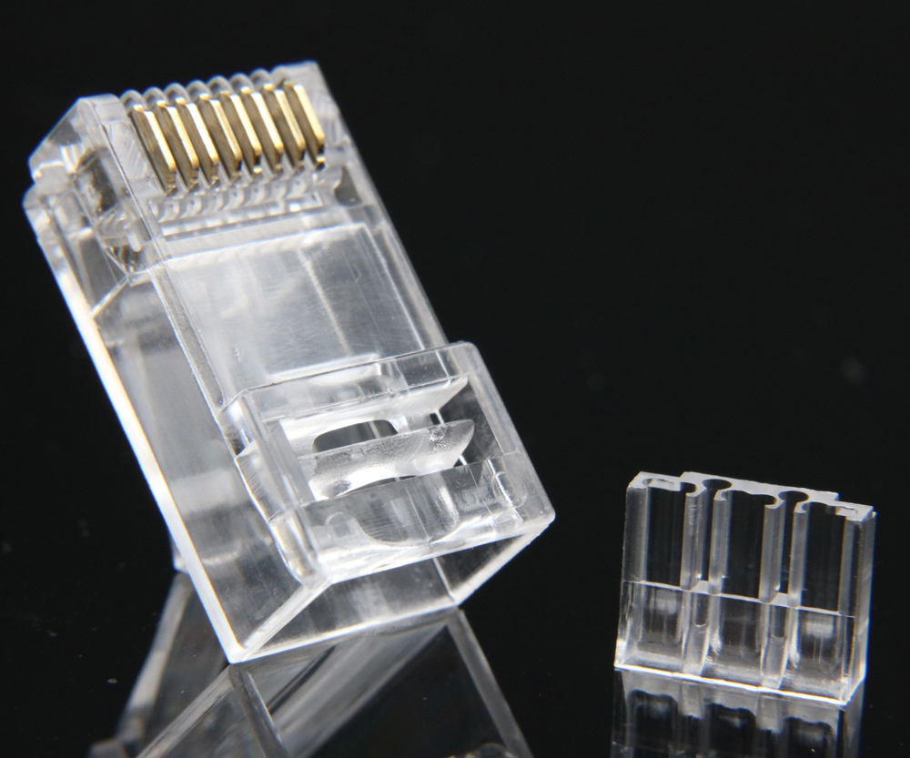 Image 5 - xintylink rj45 connector cat6 ethernet cable plug cat 6 network 8pin rj 45 gold plated utp male 8p8c unshielded load bar 50pcs-in Computer Cables & Connectors from Computer & Office