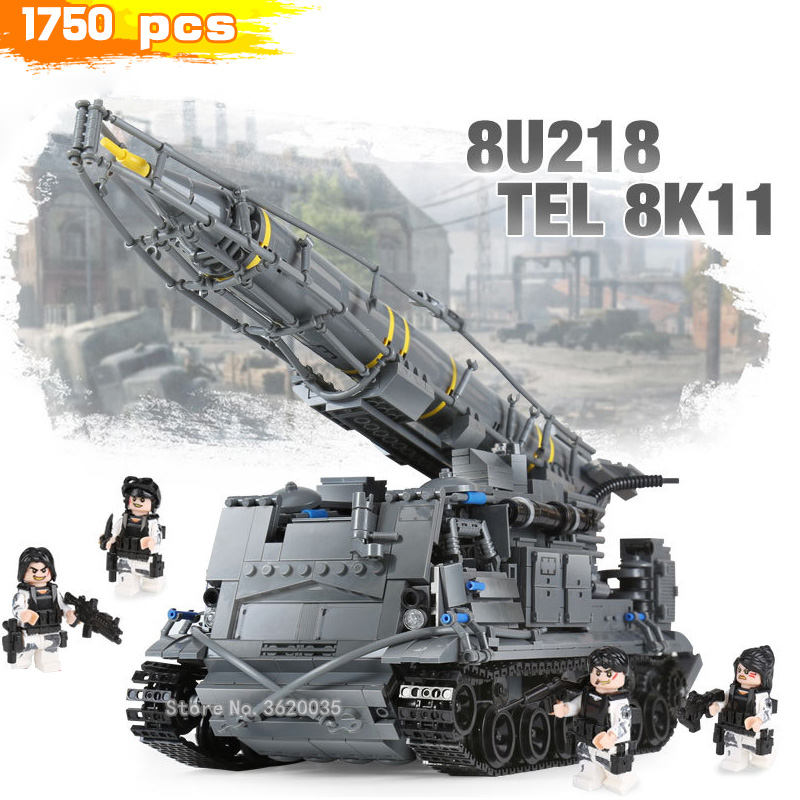 Military World War 2 Building Blocks Scud Missile Track Assemble Tank 8u218 Tel Figures MOC Weapons Gift For Boy With LegoinglysMilitary World War 2 Building Blocks Scud Missile Track Assemble Tank 8u218 Tel Figures MOC Weapons Gift For Boy With Legoinglys