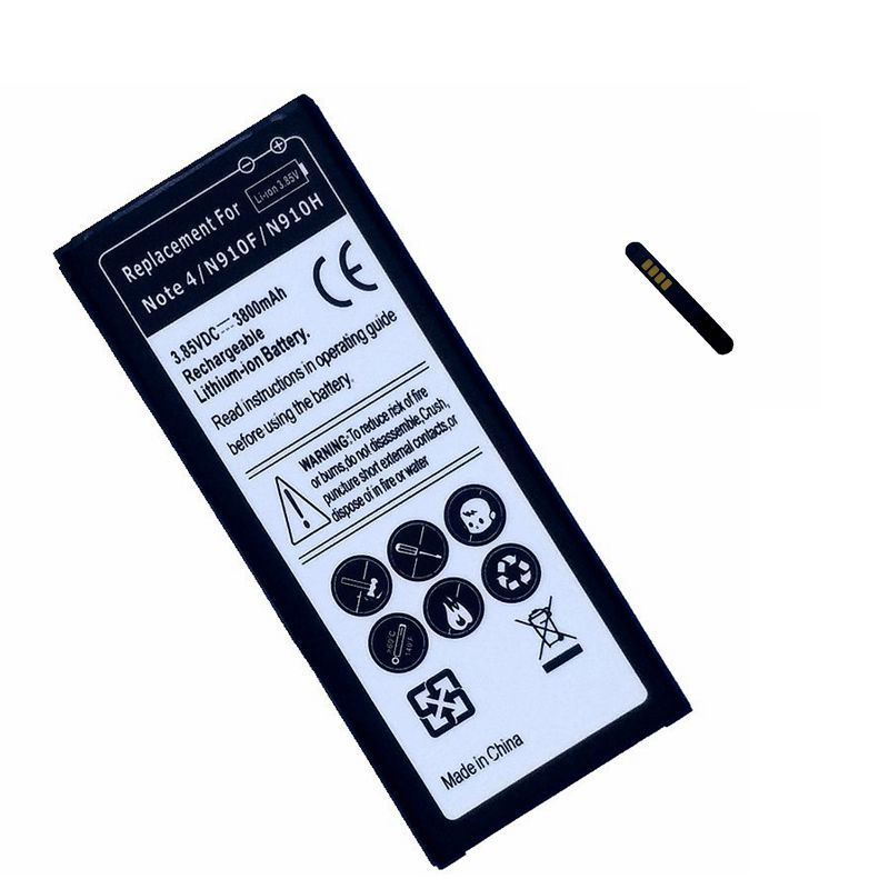 EB-BN910BBE EB-BN910BBK Replacment Battery for Samsung Galaxy Note 4 NOTE4  N910F N910H SM-N910G Internal Batteries Accumulator