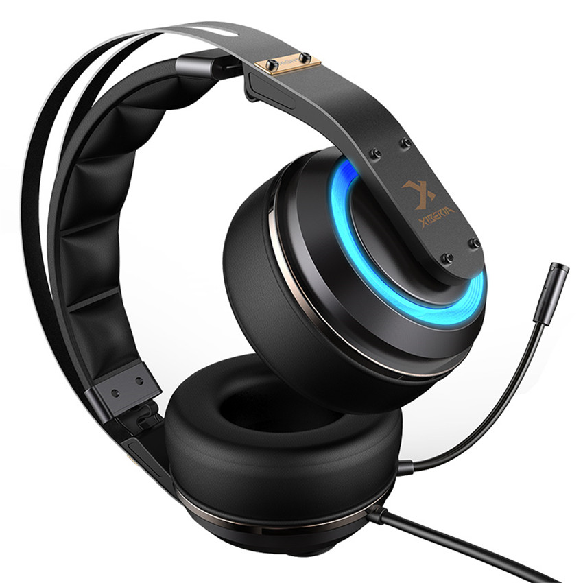 Fones de ouvido do jogo do som do surround de usb 3d do fone de ouvido do jogador do pc de xiberia t19 com microfone do cancelamento do ruído ativo conduzido para o computador - 2