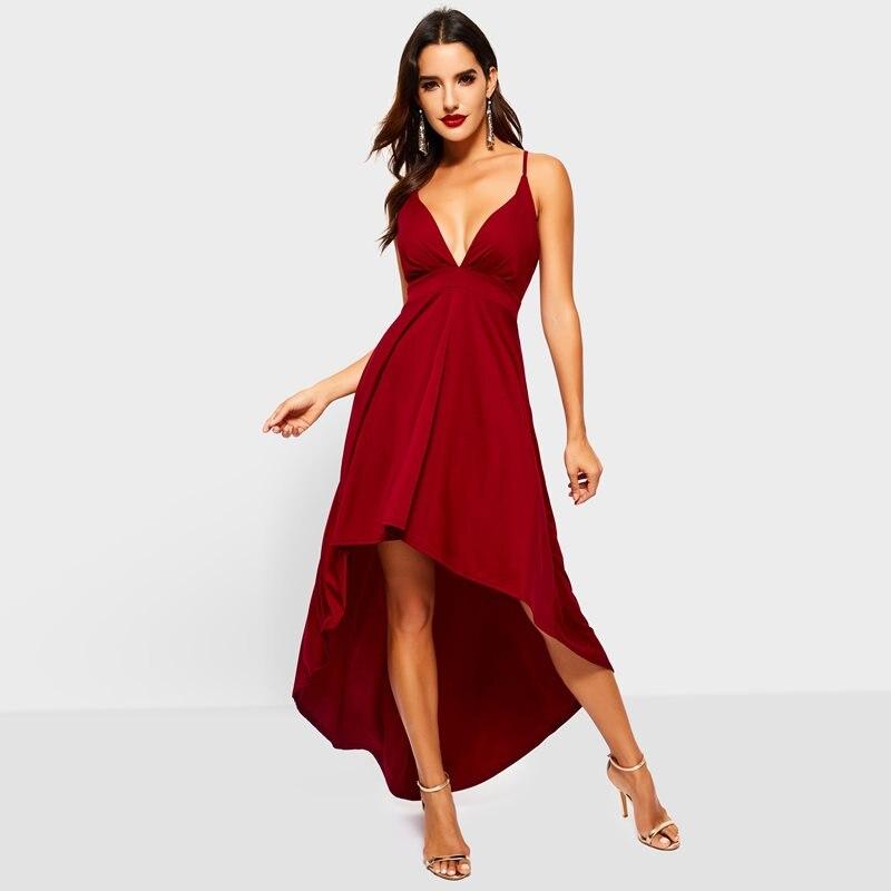 Летнее платье макси для вечеринки, женское вечернее платье с глубоким v-образным вырезом, перекрещивающимся на завязке с открытой спиной, ас...