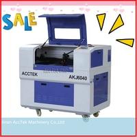 Good Service jinan ACCTEK mini 6040 laser machine for with Taiwan Hiwin square rails