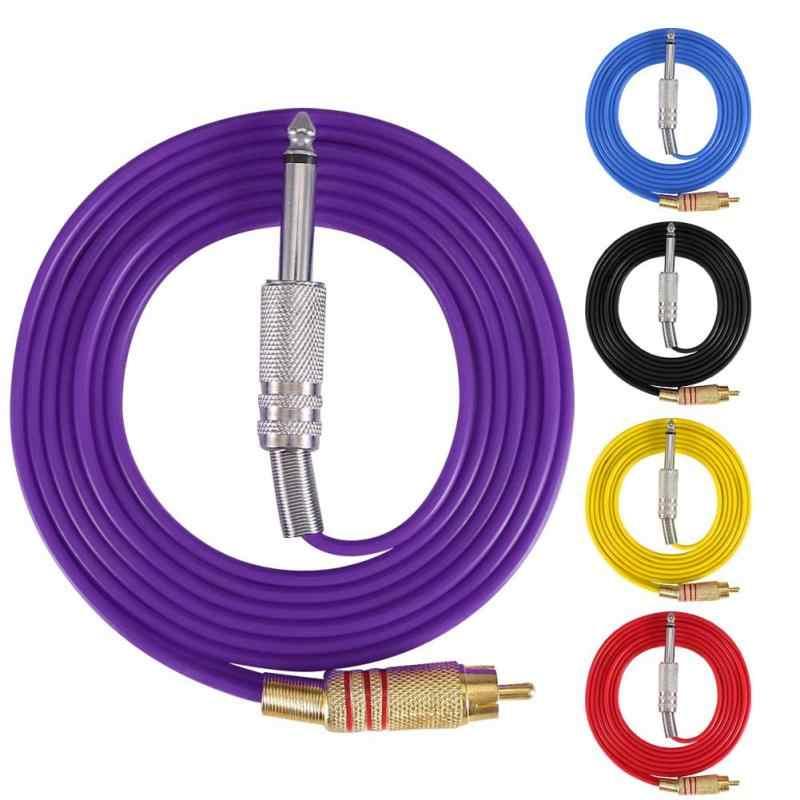 Ligne de crochet de Silicone de 5 couleurs pour le kit droit de Conversion de Machine de tatouage d'insertion d'interface de RCA ligne d'alimentation d'énergie de Machine de tatouage