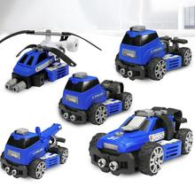 Crane Truck Engineering Transformation Robot Assembling Car Deformation Toy Polytropic Construction Vehicle Kids Toys Gift abbyfrank 5 in 1 transformation car assembly action figure toys truck plastic engineering vehicles robot christmas toy for kids