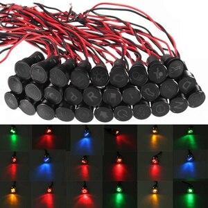 12 V 8 مللي متر المعادن LED داش لوحة تحذير ل Pilot مؤشر ضوء بدوره ضوء مصباح إشارة للماء العالمي ل سيارة قارب شاحنة