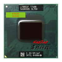 Procesador Intel Core 2 Duo T7600 SL9SD, 2,3 GHz, doble núcleo, doble hilo, 4M, 34W, enchufe M / mPGA478MT