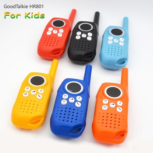 2 pçs crianças walkie talkie crianças brinquedo two way rádio de longo alcance handheld crianças brinquedo walky talky para crianças