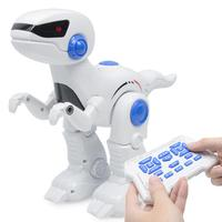RC Robot Dinosaur Intelligent Remote Control Tyrannosaurus Model With Music Light Walking Programming Function Electric Toy