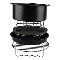 Hot sale 6Pcs Durable Baking Basket Pizza Plate Air Fryer Accessories For Cooking Kitchen
