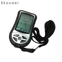LCD Backlight Digital Compass Altimeter Barometer Thermometer Weather 12/24 (AM/PM) Forecast Silver Black
