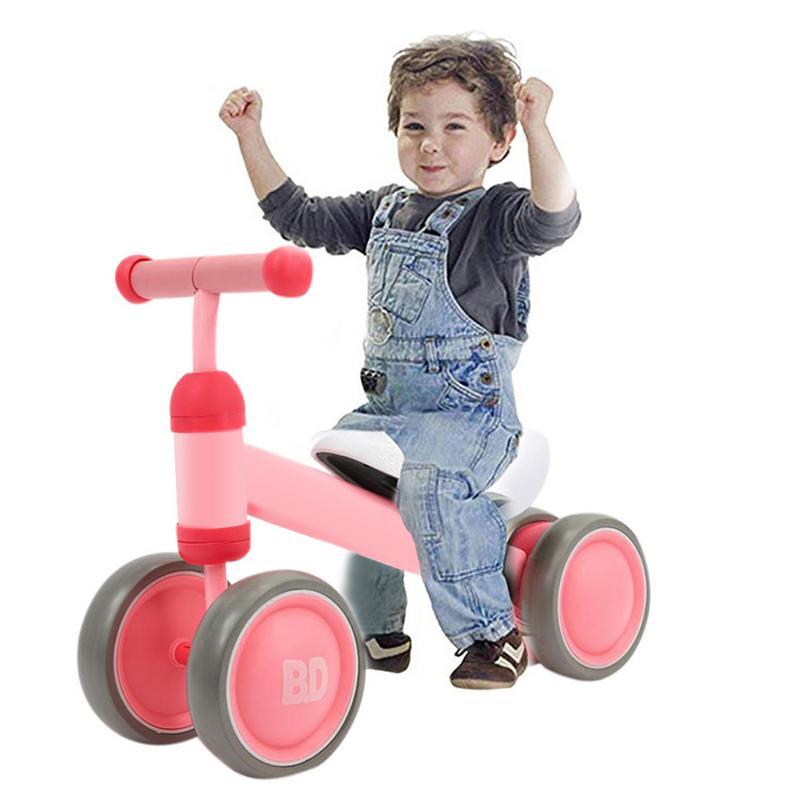 Bébé Balance vélo enfants vélo marcheur vélos Scooter 10-36 mois bébé pas de pédale Balance voiture infantile 4 roues bambin cadeau