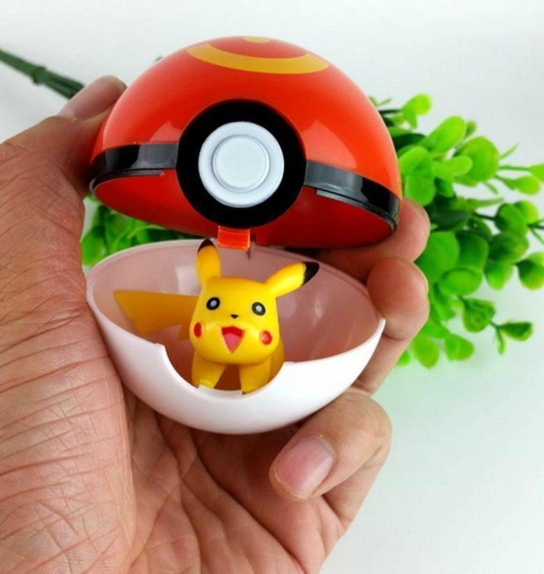 Creative 7cm Pokemon Pikachu Poke Ball Cosplay Pop-up Kids Toy Gift Plastic
