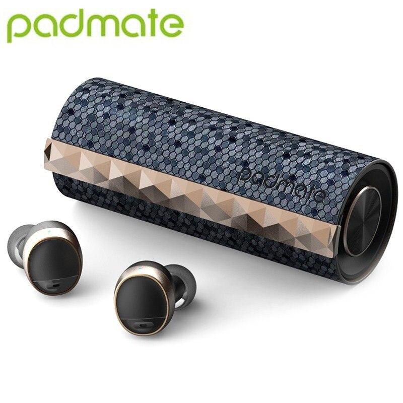 Padmate PaMu Scroll BT 5.0 Fones De Ouvido Com Cancelamento de Ruído Fones de Ouvido Intra-auriculares IPX6 Par Automático À Prova D' Água Sem Fio Controle de Toque