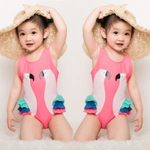 купить Children Bathing Suit Beachwear Kids Girls One Piece Suits Swimwear Printed Swimming Bikini Swimsuit Swimwear дешево