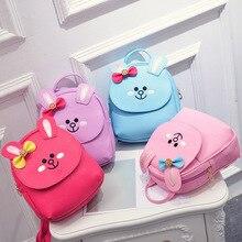 New Cute Children Backpack Mini Backpack Leather Women Cartoon Back Pack Backpacks For Teenage Girls Small