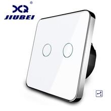 Producenta, Jiubei Standard ue przełącznik dotykowy, 2 Gang 2 sposób sterowania, 3 kolor Panel ze szkła kryształowego, przełącznika światła na ścianie, C702S 11/12/3