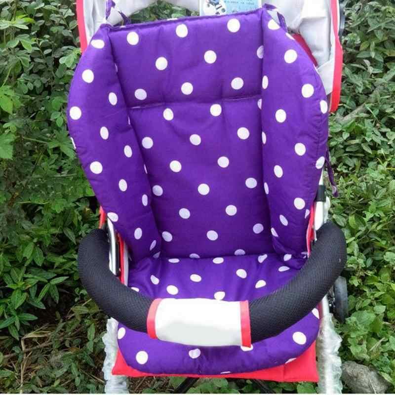 รถเข็นเด็กทารกรถเข็นเด็ก Cushion Breathable ผ้าฝ้ายรองเม้าส์รถเข็นเด็กที่นั่งอัตโนมัติสีขาว Dot รถเข็นเด็กทารกอุปกรณ์เสริม