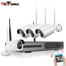Wetrans Camera System CCTV Wifi 4CH 1080P NVR Kit Wireless Waterproof Night Vision Smart Home Video Surveillance IP Camera Set