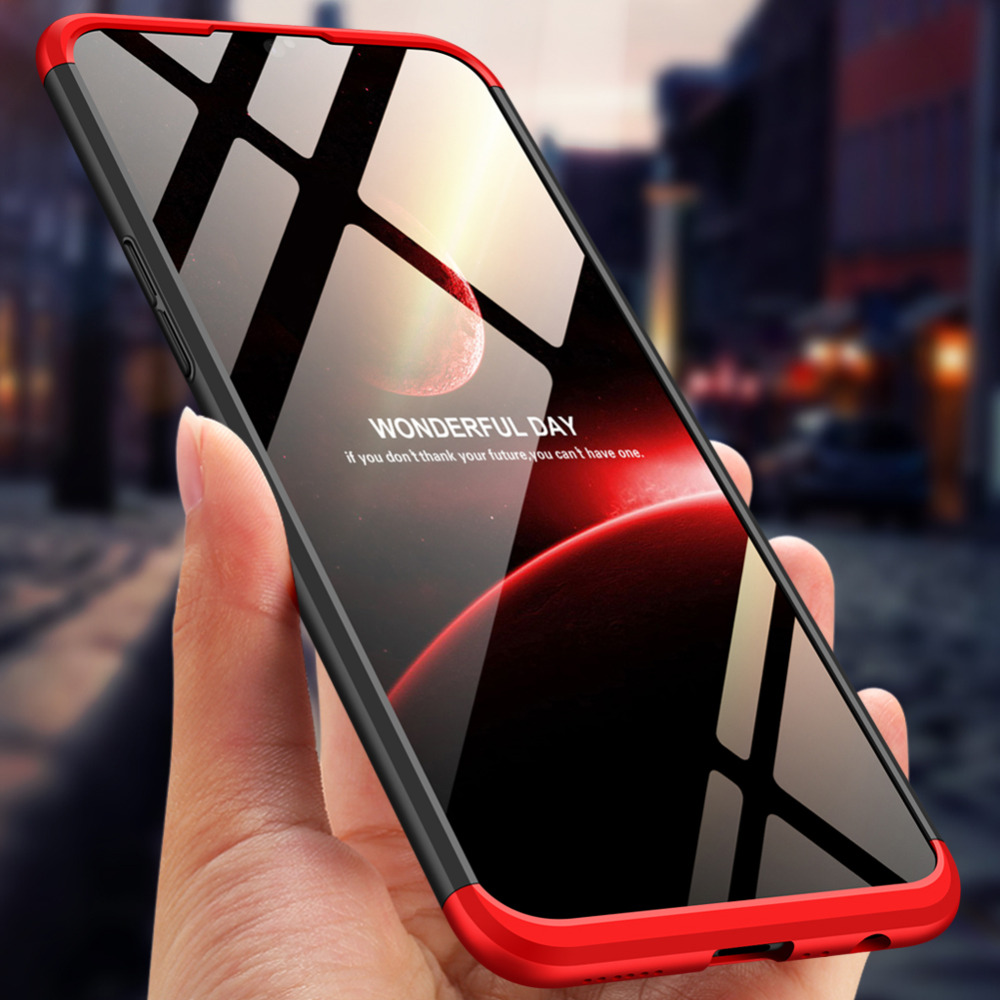 OPPO AX7 A5S Case Colored Matte 360 Degree Protected Full Body Phone Case for OPPO A X7 A5S OPPOAX7 CPH1903 Cover + Glass Film