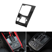 ABS Carbon Fiber Texture Car Styling Gear Shift Electronic Handbrake Panel Cover Trim For Mazda CX-5 CX5 CX 5 2017 2018 ONLY LHD