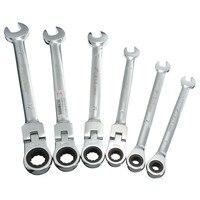 DANIU 6 Pcs 6mm-12mm DANIU Flexible Metric Getriebe Kopf Ratsche Spanner Schwenk Schlüssel Garage Metric Tool hand Werkzeug Sets