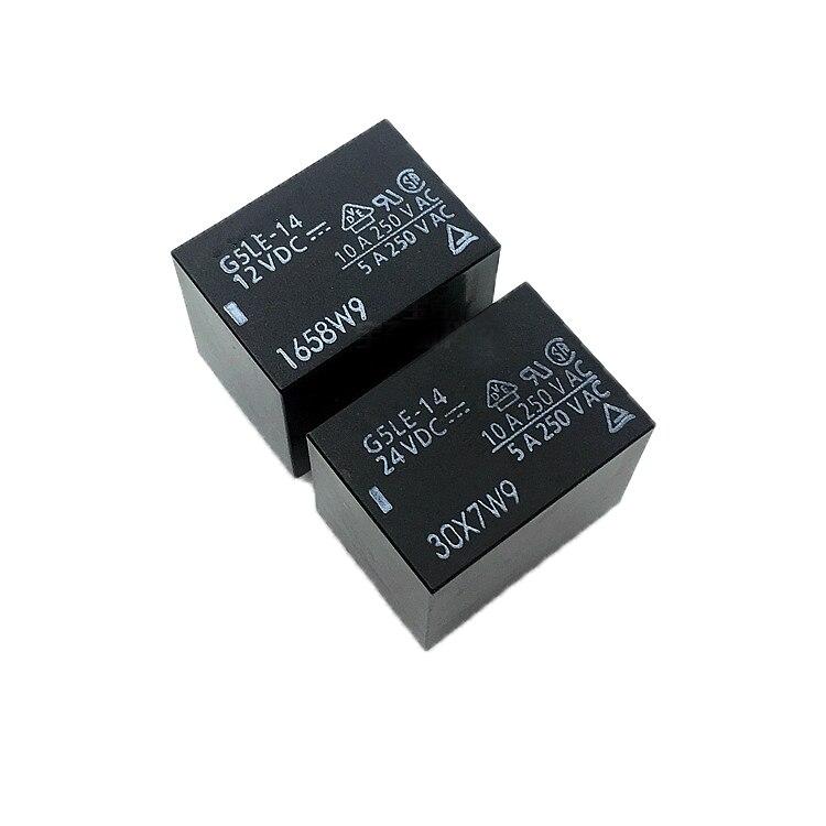 10pcs 5V 5pins G5LE-14-5VDC OMRON Relay