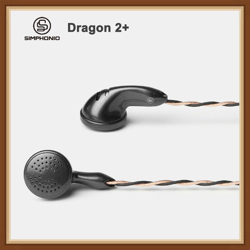 Simphonio Dragon 2 SW D2 Dynamic Driver DD HiFi Music Monitor DJ Studio Flat Head Earphone