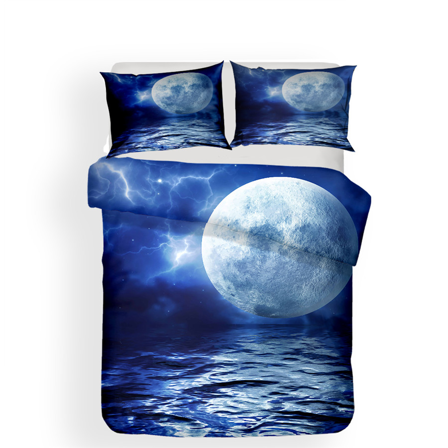 Image 2 - Bedding Set 3D Printed Duvet Cover Bed Set Sea Wave Home Textiles for Adults Lifelike Bedclothes with Pillowcase #HL07-in Bedding Sets from Home & Garden