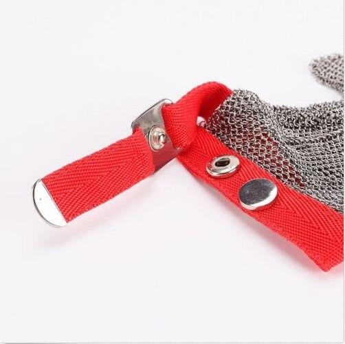 Кольчужные перчатки среднего размера S/стальной нейлоновый ремешок металлические перчатки для пальцев - 2
