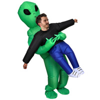 Costumes ET Hug Me Cosplay Suit Party Prop Toy Inflatable Alien Costumes Walking Doll Halloween Party Toy For Adult Men Women