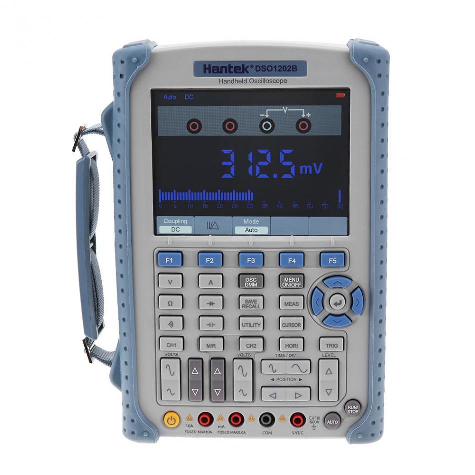 Hantek DSO1202B Numérique De Poche Oscilloscope Multimètre 2CH 200 MHz 1Gsa/S taux d'échantillonnage 1 M Mémoire Profondeur 6000 Compte DMM