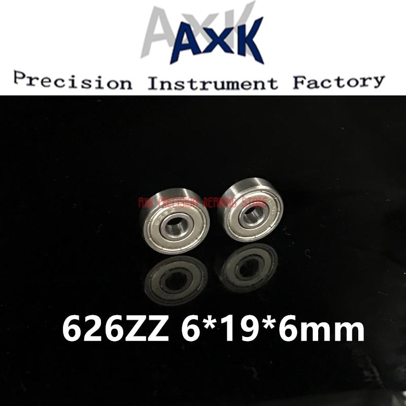 2019 Special Offer Promotion Axk 6x19x6mm 626zz Bearing Abec-3(10pcs) 6*19*6 Mm Metric Thin Section 626 Zz Ball Bearings 626z