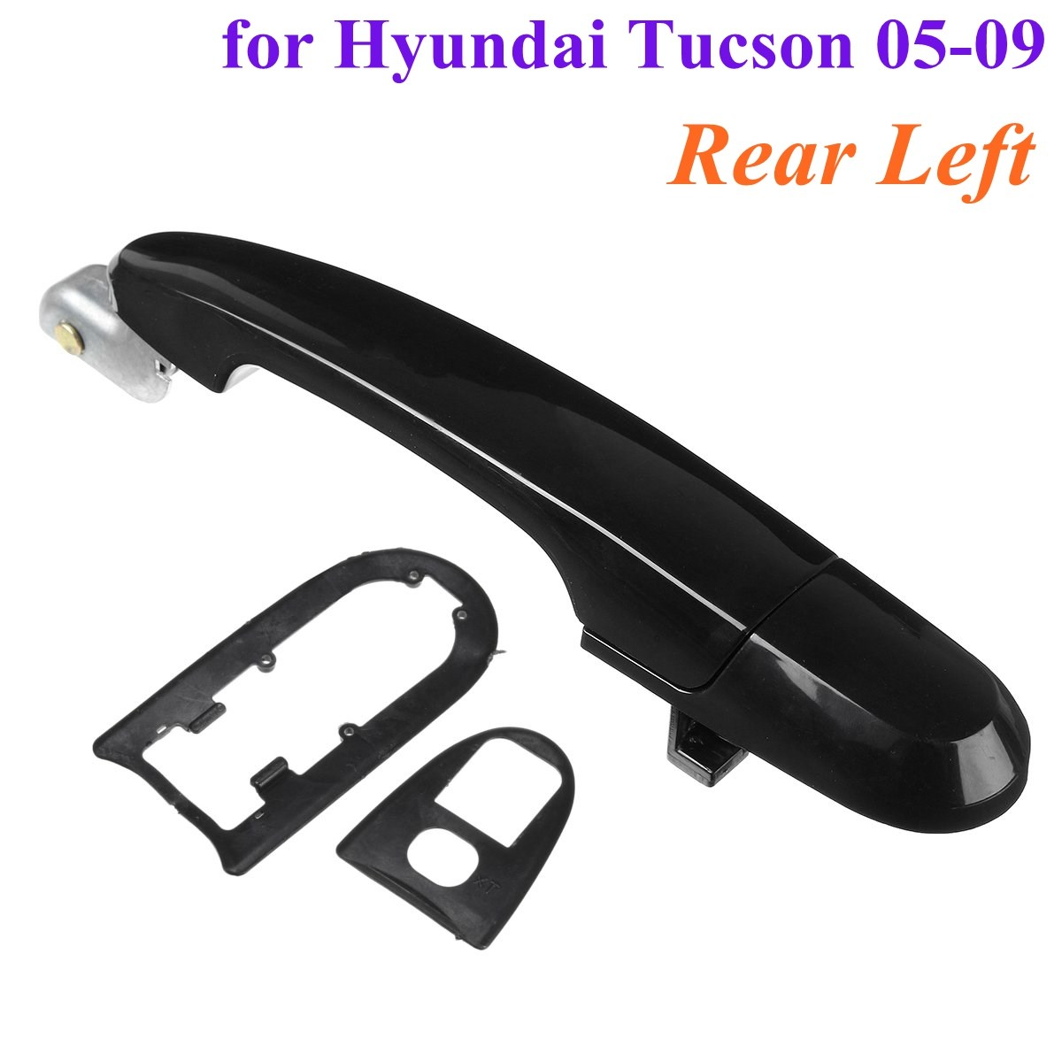 Rear Left Black Car font b Exterior b font Outside Door Handle for Hyundai Tucson 2005