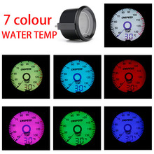 Universal 52mm Virtual Pointer Car Water Temperature Gauge Digital 7-Colors LED Display