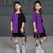 Niños sueltos salón de baile Hip Hop competencia de baile ropa trajes niños Jazz  moderno T camisa pantalones de baile ropa traje 11a2cba57fb