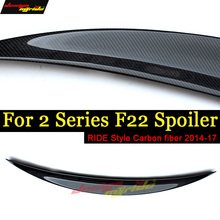 For BMW F20 F22 Tail Rear Trunk Spoiler Lip Wing Ride style Carbon fiber 220i 228i 230i 230xDrive 235i Spoiler Lip Wing 2014-17 f22 f20 tail rear trunk spoiler lip wing ride style carbon fiber for bmw f22 220i 228i 230i 235i rear trunk spoiler lip wing 14