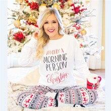 hirigin T-shirt Pants Women Santa Long Sleeve Sleepwear Autumn Winter Warm  Nightwear 8a1398c7a