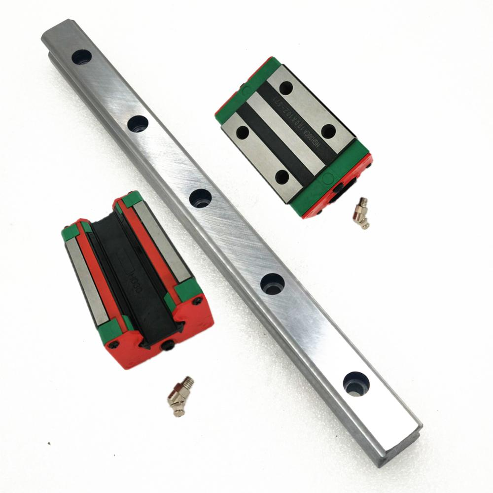 Linear motion guide 25mm linear rail linear guide 450mm 2pc linear guide block HGH25CA HGW25CC 4pc