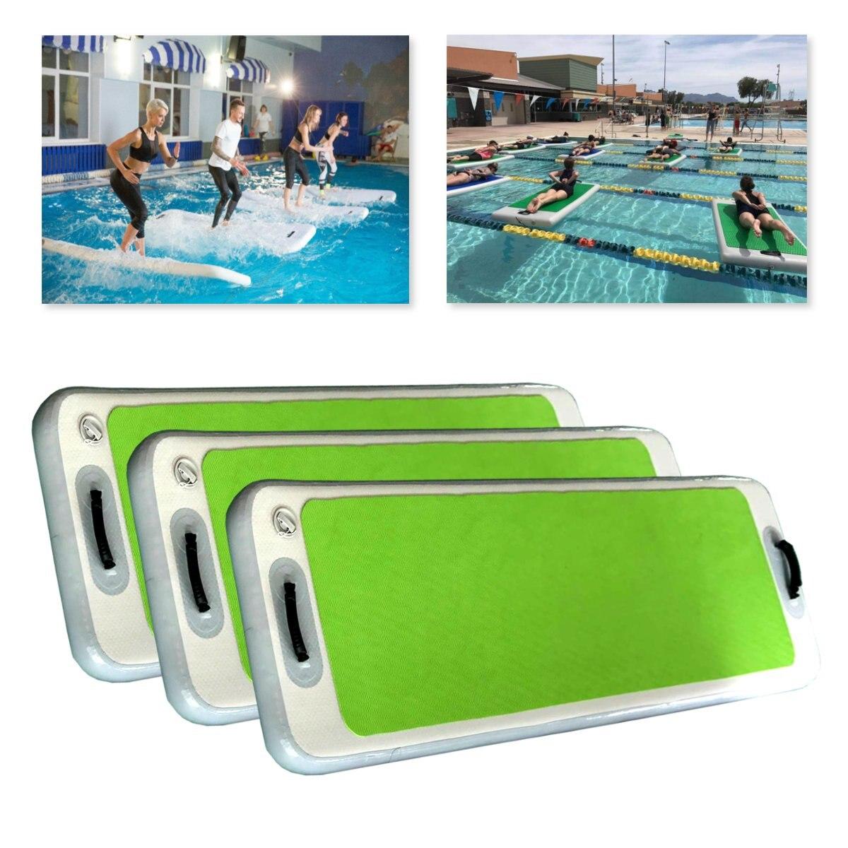 Tapis de Yoga flottant gonflable pistes de culbuteur d'air patins antidérapants pour gymnastique SUP Paddle Board pour Yoga de l'eau avec pompe à Air