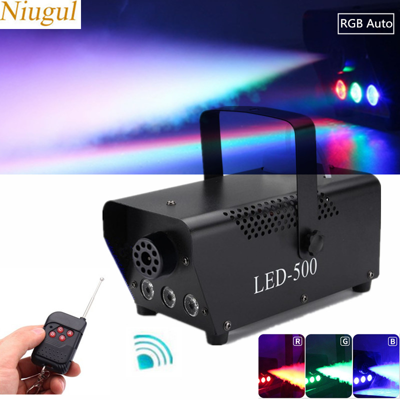 500W Fog Smoke Machine With RGB LED Lights /Wireless Remote Control Smoke Ejector/LED Fogger /DJ Party Stage Light Smoke Thrower