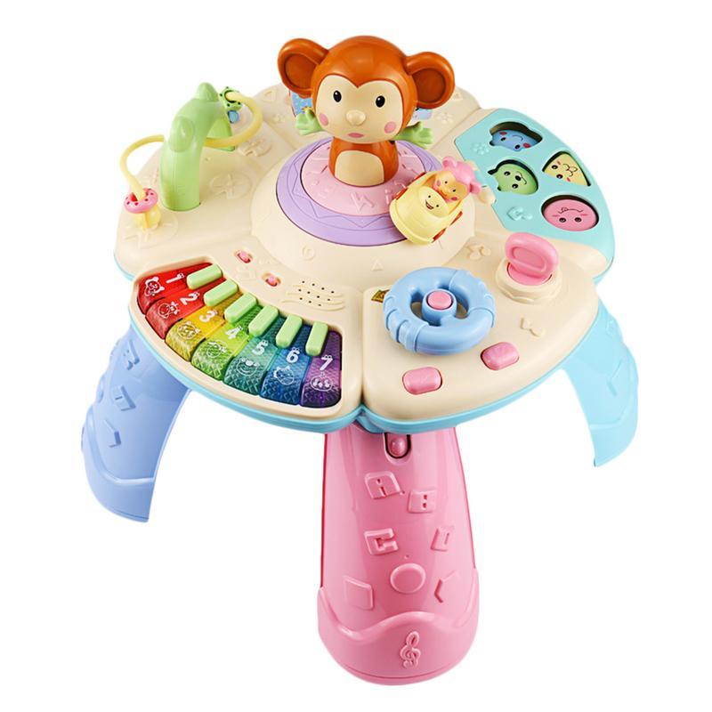 Nuevos juguetes para bebés mesa de aprendizaje Musical 6 meses arriba-Educación Temprana centro de actividad Musical mesa de juegos niños pequeños juguetes