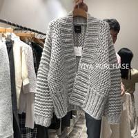 Hand Knitted Cardigan Women Cashmere Winter Sweater Korean Ladies Cardigan 2019 New Fashion Womens Cardigan Long Sleeve Female