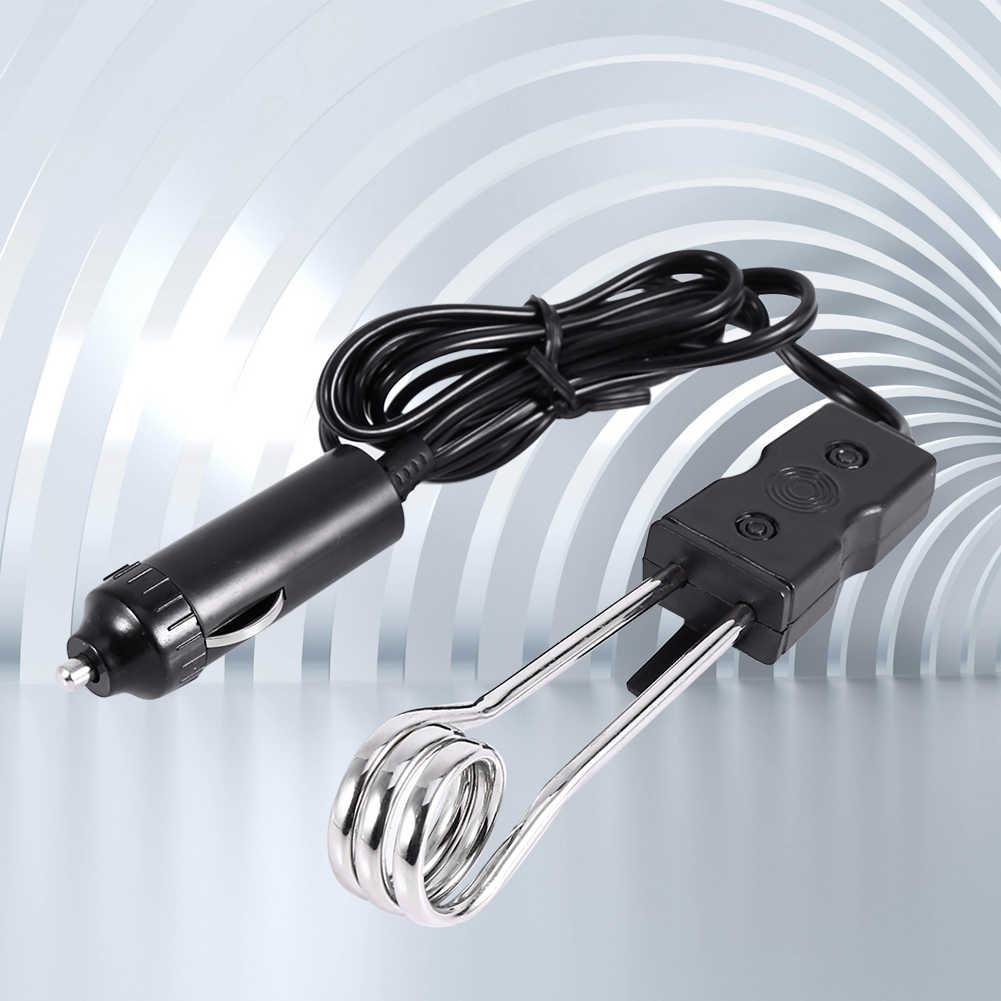 Calentador de agua de inmersión de coche eléctrico portátil de 12V para Camping Picnic Mini caldera de agua caliente café inmersión viajes