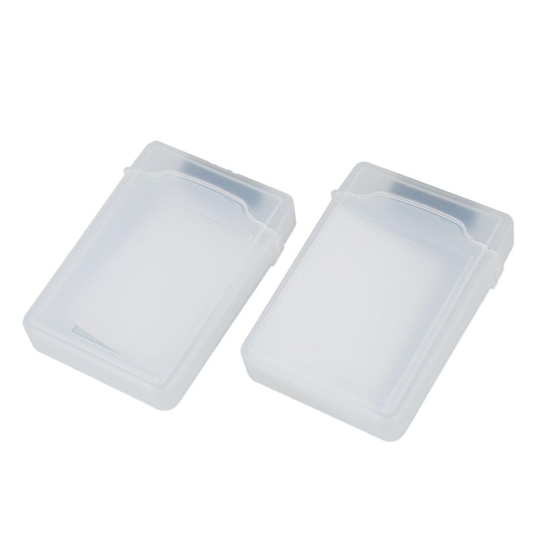 2 Packs Klar 3,5 Zoll Sata Hdd Festplatte Lagerung Fall